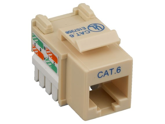 Cat6 RJ45 UTP 110 Type Punch Down Keystone Jack Ivory Color