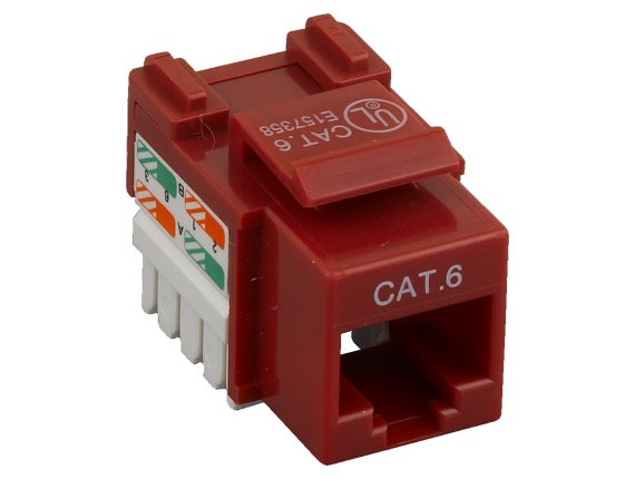 Cat6 RJ45 UTP 110 Type Punch Down Keystone Jack Red Color