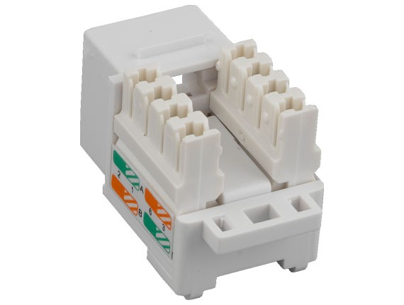 Cat6 RJ45 UTP 110 Type Punch Down Keystone Jack White Color