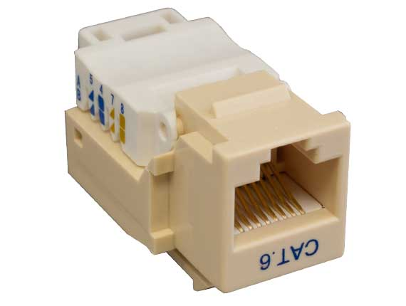 Cat6 RJ45 UTP Tool Less Keystone Jack Ivory Color