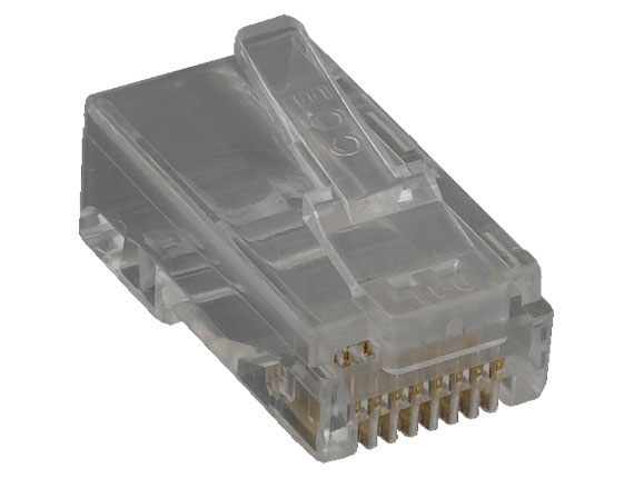 Cat6 Modular Plug for Round Solid Cable, w/Insert