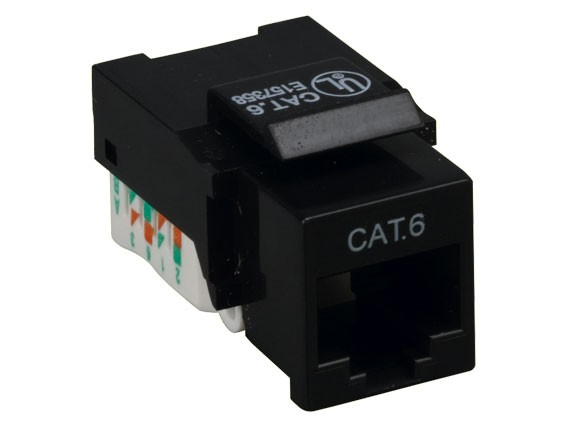 Cat6 RJ45 UTP Tool Less Keystone Jack, Black Color