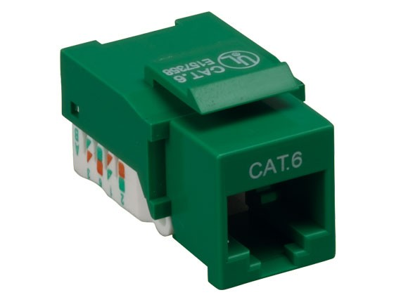 Cat6 RJ45 UTP Tool Less Keystone Jack Green Color
