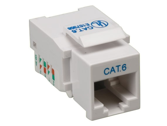 Cat6 RJ45 UTP Tool Less Keystone Jack White Color