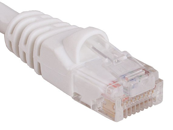 0.5ft Cat6 550 MHz UTP Snagless Ethernet Network Patch Cable White Color