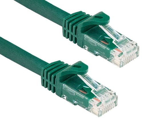 2ft Cat6a 600 MHz UTP Snagless Ethernet Network Patch Cable, Green
