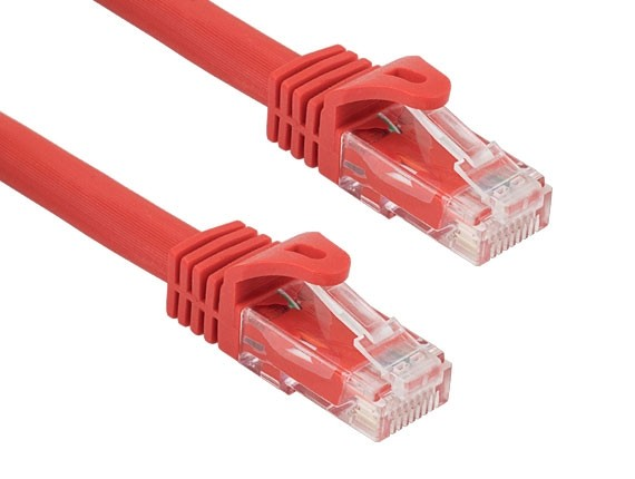 100ft Cat6a 600 MHz UTP Snagless Ethernet Network Patch Cable, Red
