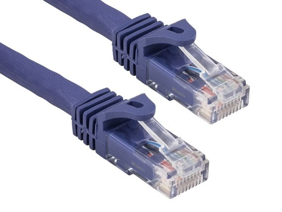 0.5ft Cat6a 600 MHz UTP Snagless Ethernet Network Patch Cable, Purple