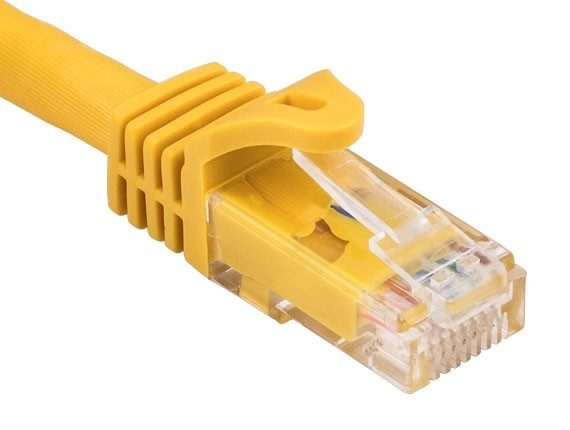 25ft Cat6a 600 MHz UTP Snagless Ethernet Network Patch Cable, Yellow