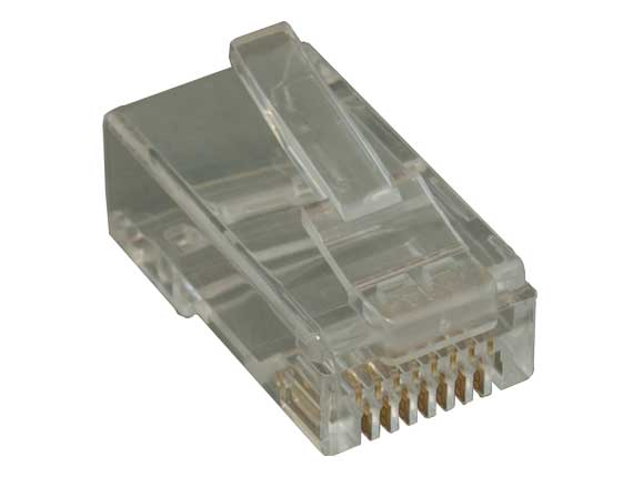 Cat6A Modular Plug for Round Stranded Cable