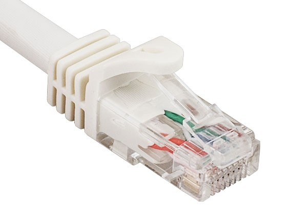 0.5ft Cat6a 600 MHz UTP Snagless Ethernet Network Patch Cable, White