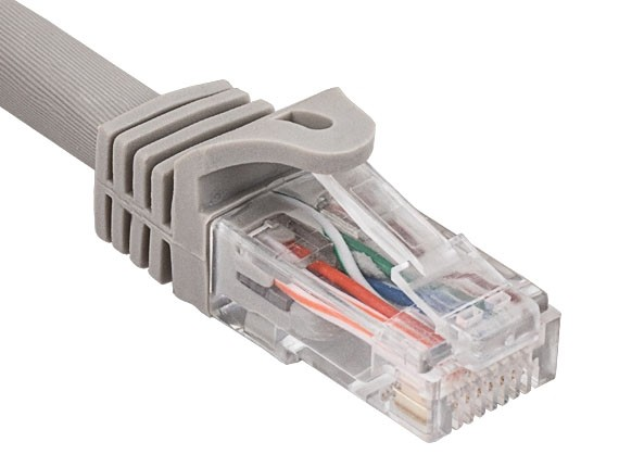 14ft Cat6a 600 MHz UTP Snagless Ethernet Network Patch Cable, Gray