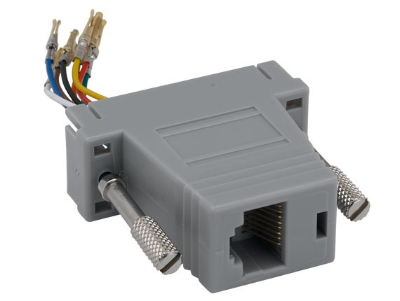 DB15 Female to RJ-45 Modular Adapter