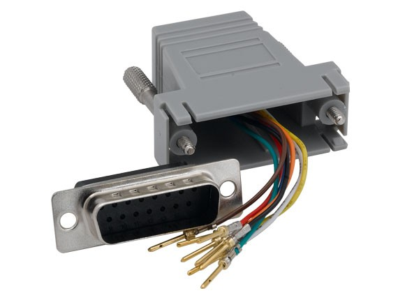 DB15 Male to RJ-45 Modualr Adapter