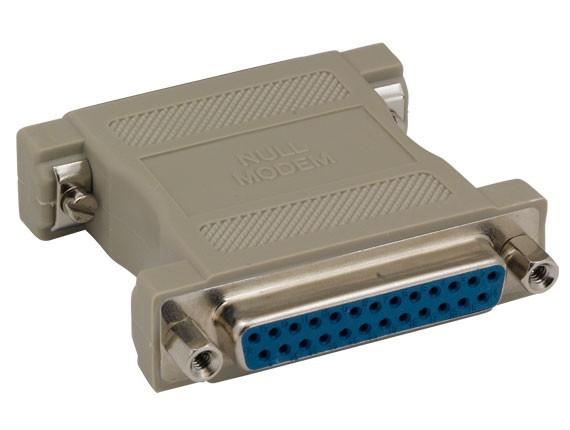 DB25 Female to DB25 Female Null Modem Adapter