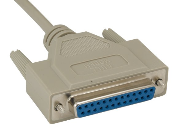 DB25 M/F Null Modem Cable