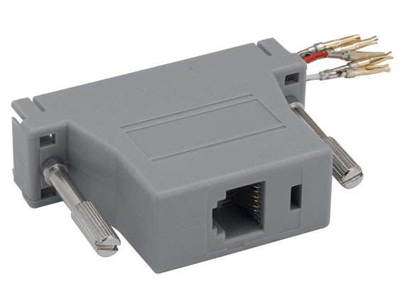 DB25 Female to RJ-12 Modular Adapter