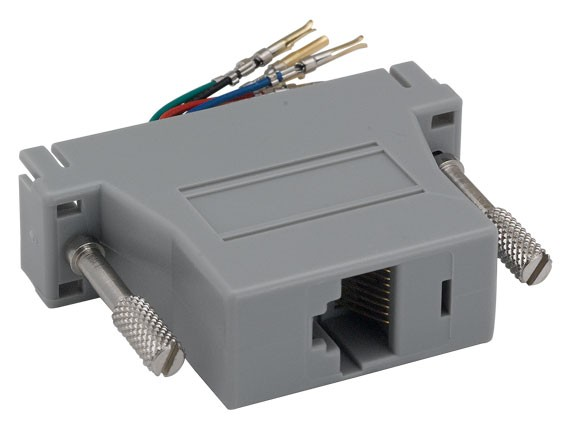 DB25 Female to RJ-45 Modular Adapter