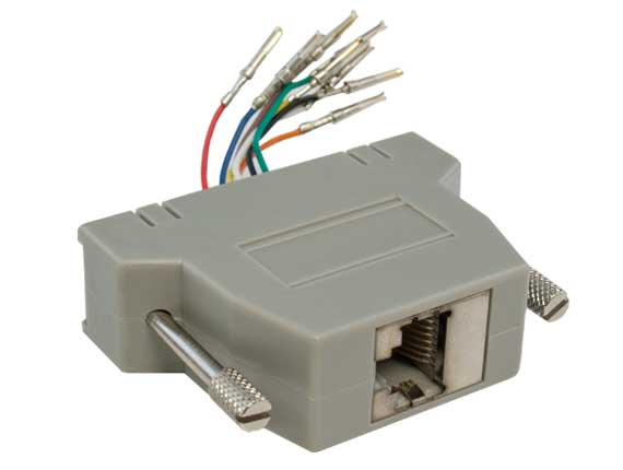 DB25 Female to RJ-45 Shielded Modular Adapter