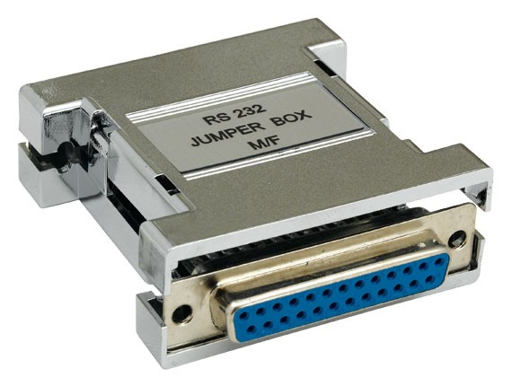 DB25 Male to Female RS-232 Jumper Box