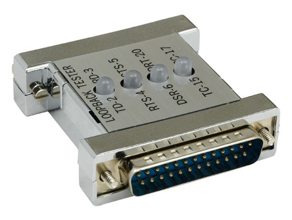 DB25 Male to Female Serial Loop Back Tester