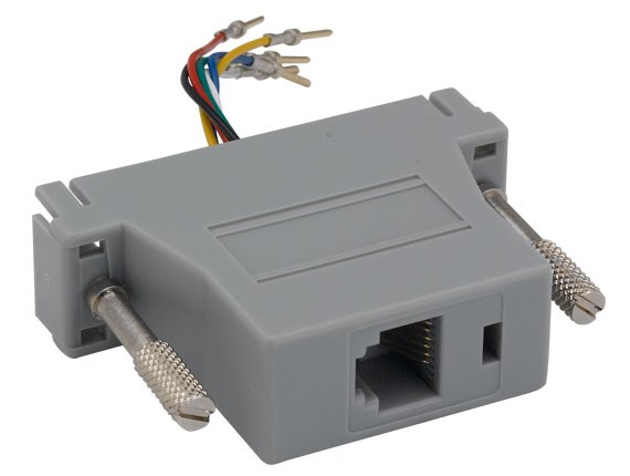DB25 Male to RJ-12 Modular Adapter