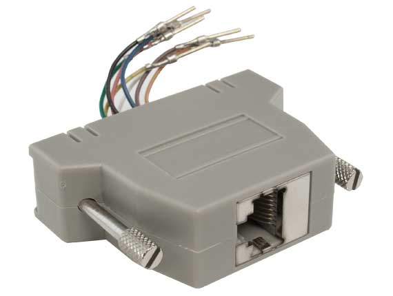 DB25 Male to RJ-45 Shielded Modular Adapter