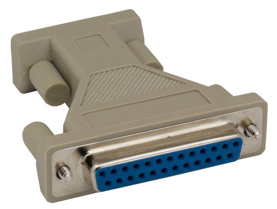 DB9 Female to DB25 Female AT Modem Adapter