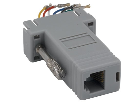 DB9 Female to RJ-12 Modular Adapter
