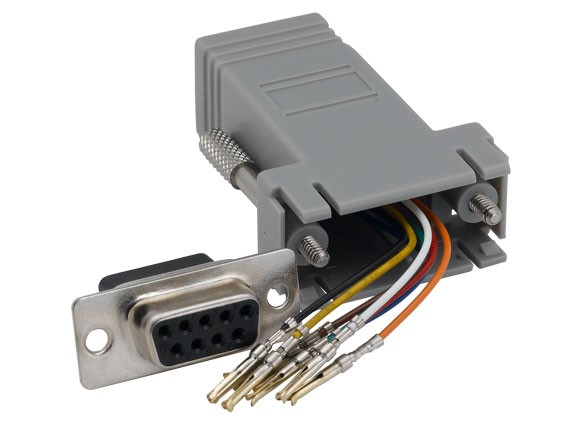 DB9 Female to RJ-45 Modular Adapter