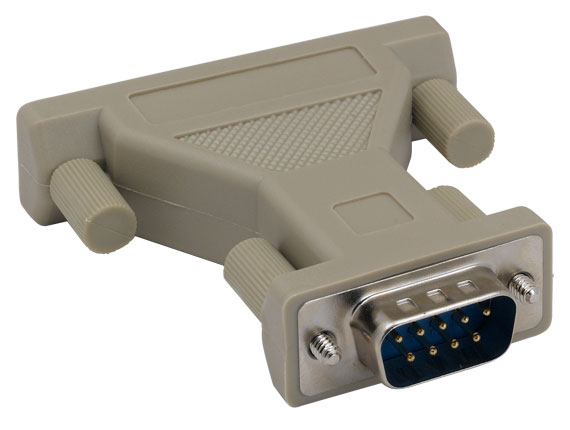 DB9 Male to DB25 Female AT Modem Adapter