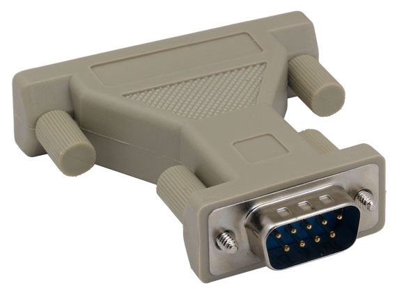 DB9 Male to DB25 Male AT Modem Adapter