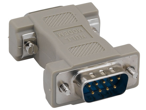 DB9 Male to DB9 Male Null Modem Adapter