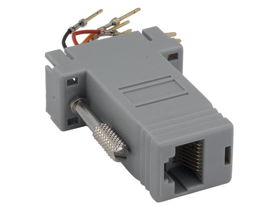 DB9 Male to RJ-45 Modular Adapter