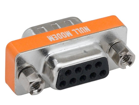 DB9 Male to Female Null Modem Mini Adapter