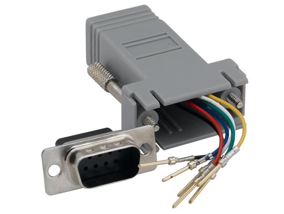 DB9 Male to RJ-12 Modular Adapter