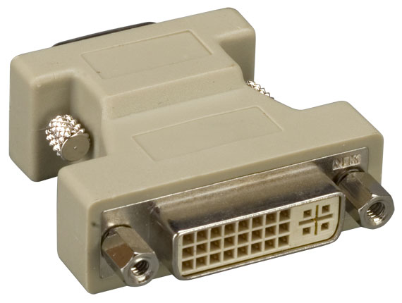 DVI-A Female to HD15 VGA Male Video Adapter