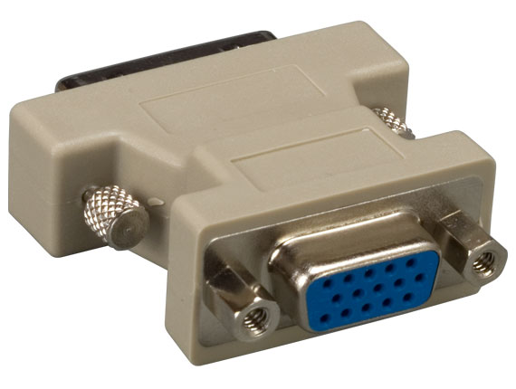 DVI-A Male to HD15 VGA Female Video Adapter