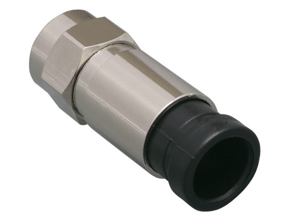 F Type Compression Connector for RG6 Cable-1