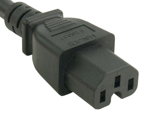 15ft 14 AWG 15A 250V Power Cord (IEC320 C14 to IEC320 C15)