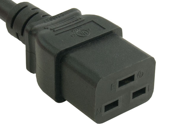 15ft 14 AWG 15A 125V Power Cord (NEMA 5-15P to IEC320 C19)