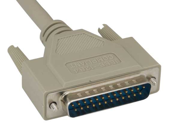 IEEE-1284 DB25M to HPCN36M Parallel Printer Cable