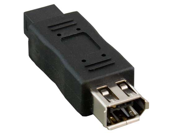 IEEE 1394B FireWire 9-pin Male to 6-pin Female Adapter