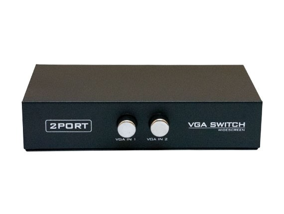 2 Port VGA HD15 Manual Data Switch Box
