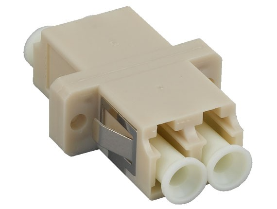 Multimode LC/LC Duplex Fiber Optic Adapter, Panel Mount Type