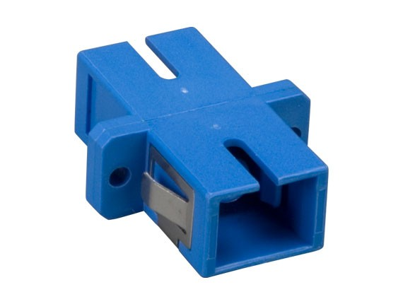 Multimode SC/SC Simplex Fiber Optic Adapter, Plastic Body