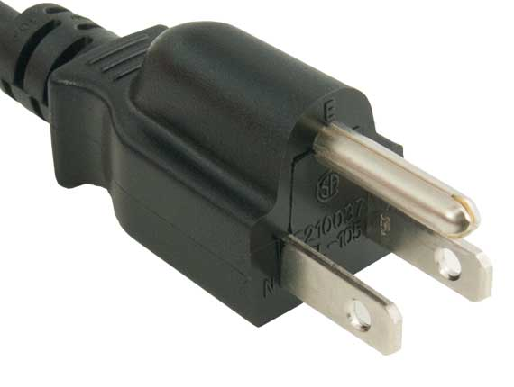 3ft 3-Prong Notebook AC Power Cord IEC320 C5 to NEMA 5-15P