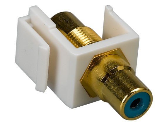 RCA F/F Keystone Insert Gold Plated Connector with Blue Center