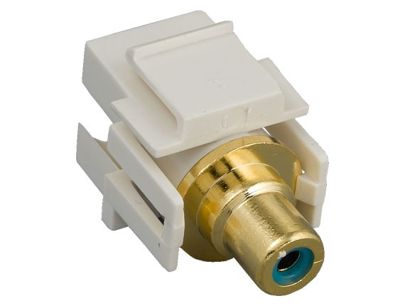 RCA F/F Recessed Keystone Insert Gold Plated Connector with Blue Center