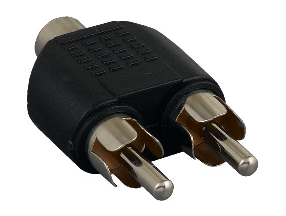 RCA Mono Female to 2 RCA Mono Male Splitter Adapter